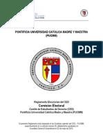 Reglamento Electoral CED 2010.