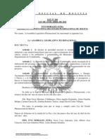 Ley 104 Se Declara Prioridad Nacional la Instalacion de gas Industrial y domiciliario en el Municipio de Sipe Sipe - Cochabamba