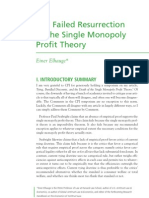 Elhauge the Failed Resurrection of the Single Monopoly Profit Theory FINAL