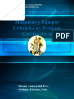 Maquinas y Equipos Utilizados en Procesos Constructivos