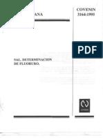 Determinanacion de Fluoruro Norma Covenin 3164-95