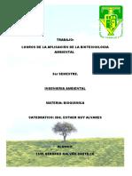 Aplicaciones de Biotecnologia Ambiental