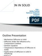 Diffusion in Solid