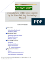 Hole Drilling Strain Gauge Method