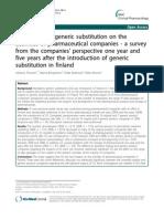 Impact of Generic Substitution