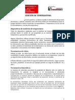 Medicion de Temperatura y Uso de Cartas Psicrometricass