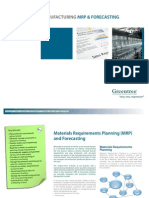 Manufacturing Mrp and Forecasting