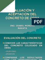 EVALUACIÓN Y ACEPTACIÓN DEL CONCRETO DE OBRA