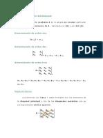 Definición de determinante