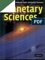 Planetary Sciences de Pater Lissauer