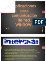Aplicaciones para comunicación de red. WINDOWS