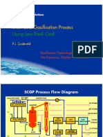 Low Rank Coal Gasification Process