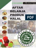 Daftar Produk Halal MUI - Mei 2011