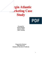 Ws Virgin Atlantic Marketing Case Study