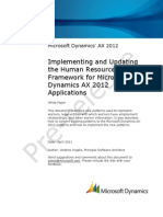 Implementing and Updating the Human Resources Framework AX2012