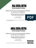 AGM Notice and Agenda June 2011