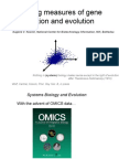 Unifying Measures of Gene Function and Evolution