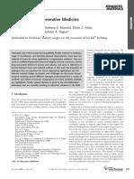 Rev Peppas Hydrogels in Regenerative Medicine