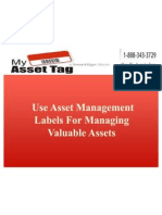 Use Asset Management Labels For Managing Valuable Assets