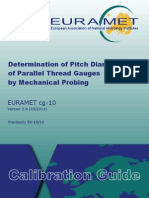 EURAMET Cg-10 v 2.0 Determination of Pitch Diameter