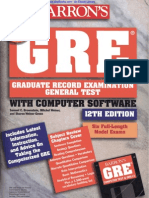 Barron's How to Prepare for the GRE 12th Edition