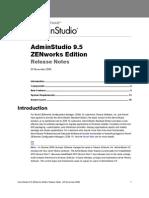 As Zen Works Releasenotes