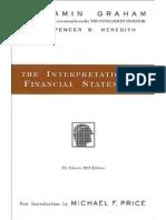 Interpretation of Financial Statements-Ben Graham