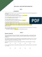 Federal Bank Mock Paper
