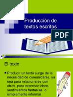 Producción de textos escritos (primero medio)