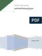 Sankey Tank Road Widening Final Report