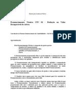 CPC 01 - Redução no Valor Recuperável de ativos