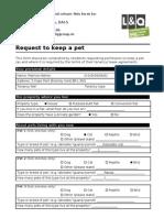 Pet Request Form