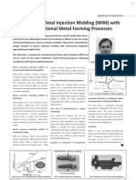 Metal Injection Molding versus traditional metal forming processes