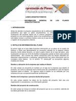 INFORMACIÓN GENERAL DE LOS PLANOS ARQUITECTÓNICOS