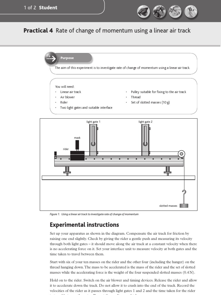 A2 Physics Practicals 56873371 Practical 4 Rate of Change of ... for Light Gate Physics  75tgx