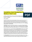 Insulation and Designing to Reduce Heat Loss