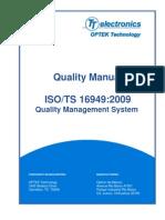 QualityManual ISOTS 16949 2009