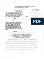 Catholic Charities Filed Complaint Regarding Their Foster Care/Adoption Services in Illinois