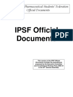 IPSF Official Documents Approved by Slovenia GA