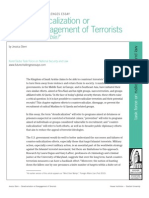 Deradicalization or Disengagement of Terrorists