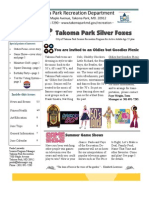 Silver Foxes Newsletter - June 2011 from the Takoma Park Recreation Department