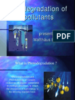 Photo Degradation of Water Polutants