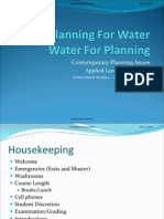 Planning for Water (2009) Contemporary Planning Issues