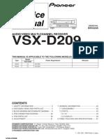 Pioneer+ +Receiver+VSX D209+ +Service+Manual