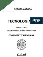 Programacion Anfora Tecnologia 1 ESO Comunitat Valenciana Actualizada