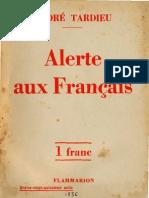 Andre Tardieu Alerte Aux Francais Paris 1936
