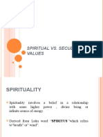 Secular vs Spiritual Values