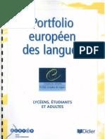 Portfolio Europeen Des Langues