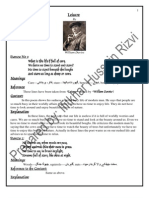 Notes Punjab University Lahore B.A English Explanation of Poems