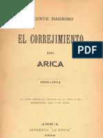 Dagnino, Vicente - El Correjimiento de Arica